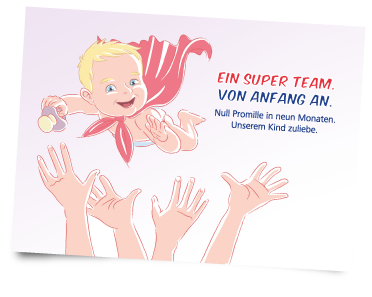 Postkarte - Super Team